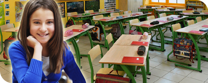 Bandeaux mobilier pour l'école primaire