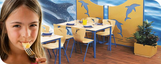 Bandeaux mobilier pour la restauration scolaire